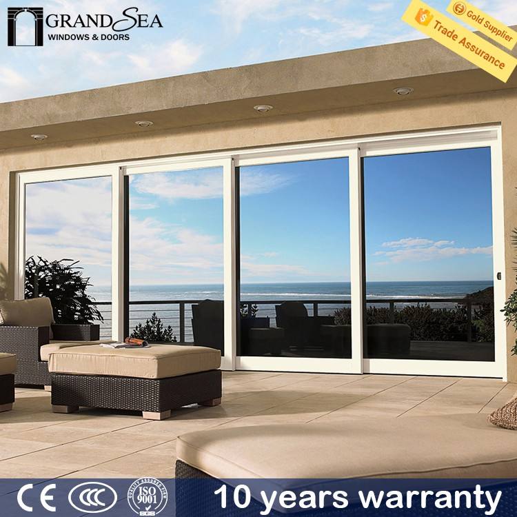 Customized house deisgn thermal break double glass ball bearing for sliding door with guards