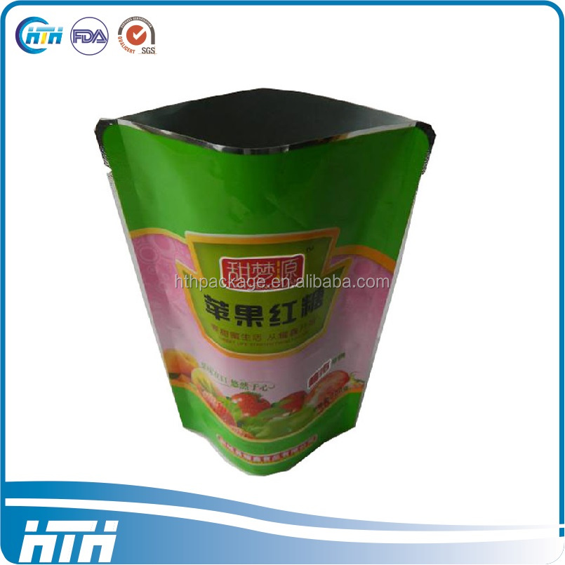 Factory supply stand up aluminum foil bag for food