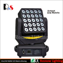 LED wireless pixel moving head 5x5 / LED 25x12W 4 in 1 RGBW matrix magic wash light for dj / LED stage lighting equipment