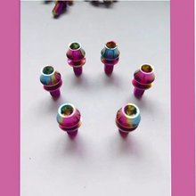 titanium rainbow anodized water bottle cages fasteners
