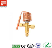 Temperature responsive expansion valves in refrigeration, air conditioning system