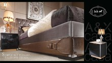 2017 New royal luxury bedroom furniture for sale