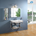 Stainless steel wall mounted dubai bathroom mirror cabinet 7015