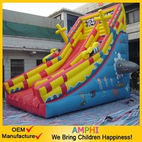 newest design commercial use Festive circus inflatable high slide for kids