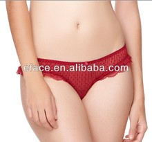 hot red transparent mesh sexy women panty
