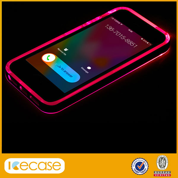 new product for iphone 5 led case While Calling and Called lightning flash light case for iphone 5 led case for iphone 5