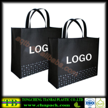 matt laminated black non woven bag