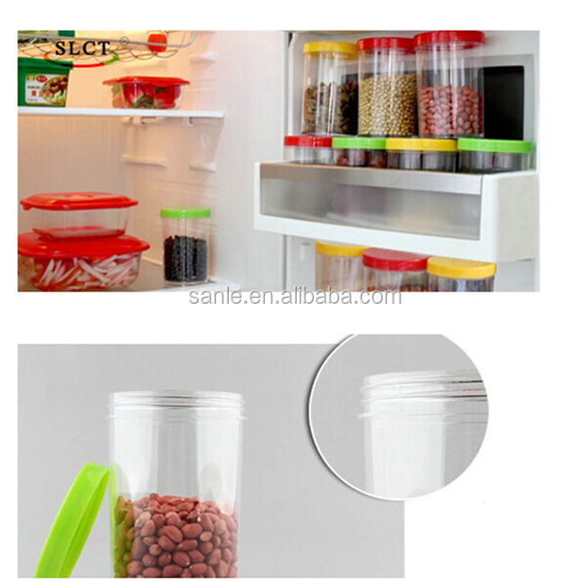 500ml 650ml 750ml clear plasti food jar