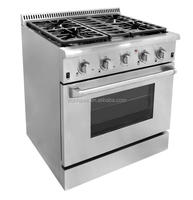 30inch freestanding gas cooking range with oven