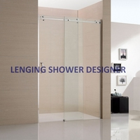 Custom Printed glass shower screen spare parts