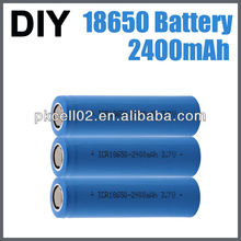 PKCELL 3.7V Cylinder lithium-ion battery ICR18650 2400mah for power bank battery