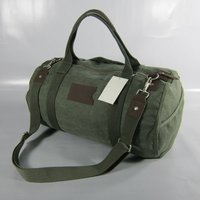 Army Green Customized Heavy Canvas Travel Duffle Bag For Trekking