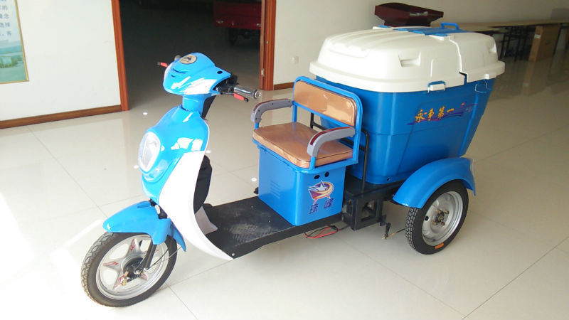 48v 350w cheap electric street cleaning tricycle
