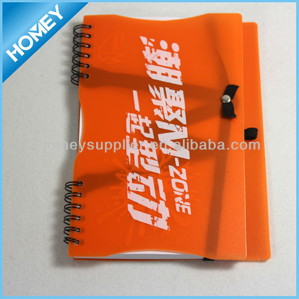 PP cover fancy notebook With Pen