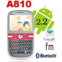 A810 3G WCDMA Android 2.2 cell phone Quad Band CECT Black and Red