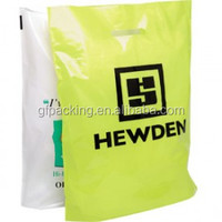 ldpe die cut handle shopping plastic bags