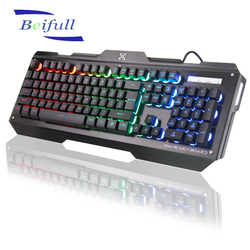 104 keys USB Wired multimedia computer keyboards with colorful backlit