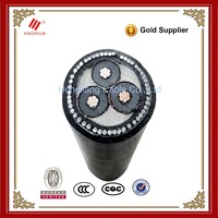 No.0222- Underground MV 3 core electrical copper conductor kinds of xlpe insulated power cable 35mm2