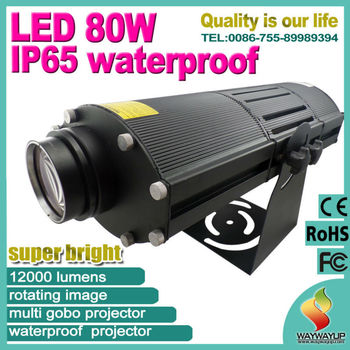 2014 new best price led80w ip65 waterproof outdoor indoor logo projector buy logo projector for Exterior 400 image projector price