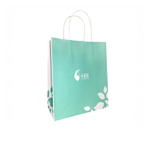 High Quality Cheap Shopping/Gift/Bakery Small Flat Handle Kraft Paper Bag With Custom Logo Print