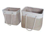 Rectangular Laundry Baskets Hampers With Two Cotton Handles