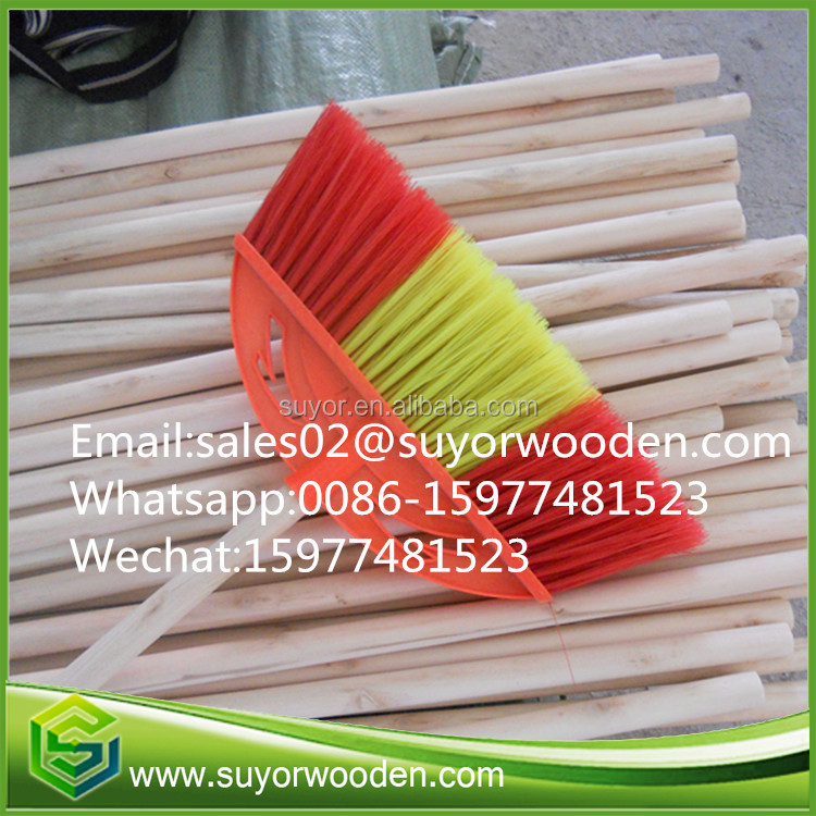 Wholesale Natural Wooden Broom Handle Mop Stick For Gardening Tools