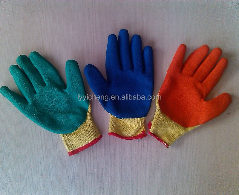 latex coated work glove/acrylic coated gloves