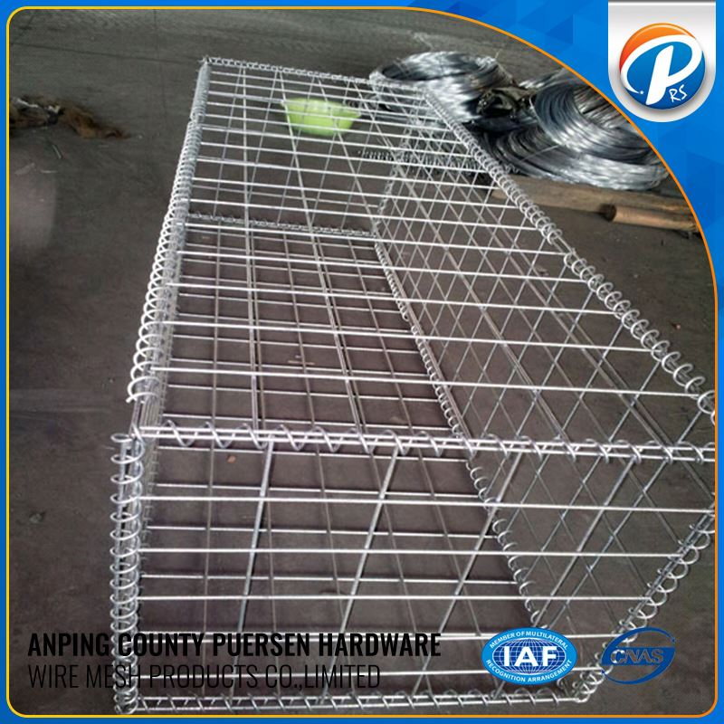 Galvanized Welded Gabion Wire Mesh Box Stone Cage