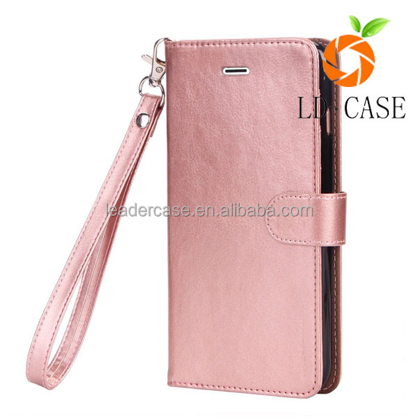 for iphone 7 women Fashion Lychee design Credit Card Wallet Stand Flip leather phone case
