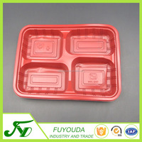 disposable natural plastic food container with lid