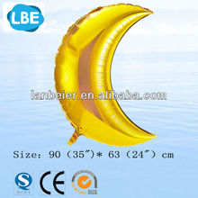 CE approved China Factory outlet Moon shape wholesale metalic foil balloon