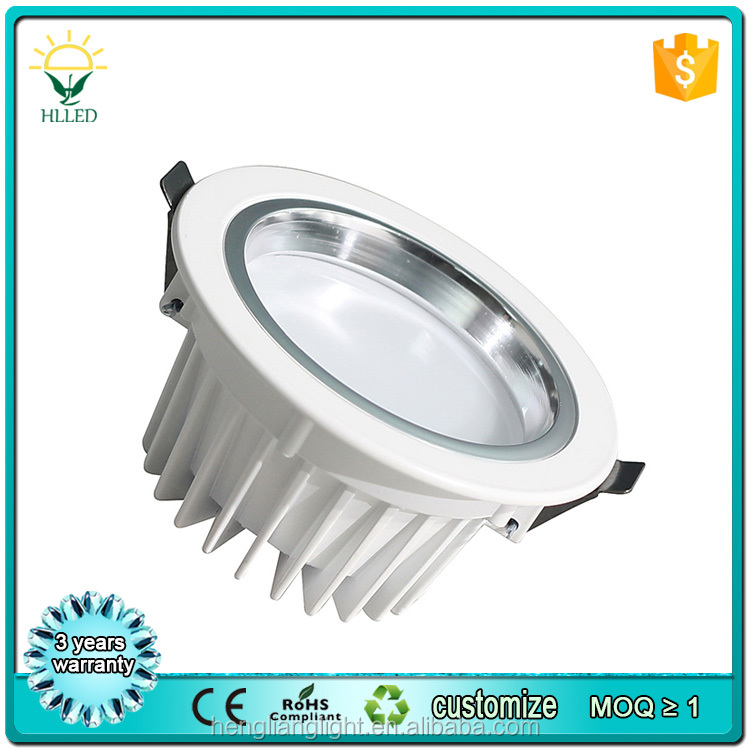 Warm white cold white 3000K 4000K 6000K IP65 waterproof outdoor anti-glare COB solar led downlight