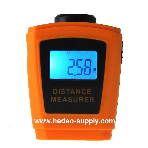 Orange color ultrasonic distance measurer / walking distance meter
