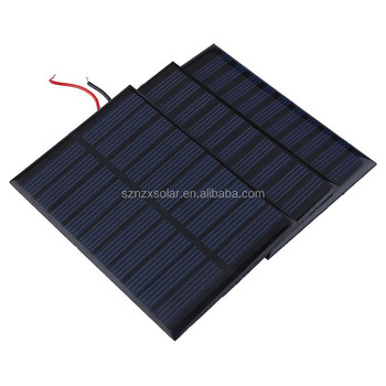 Factory Direct Supplied 5V 1W Polycrystalline 200mA Mini Solar Panel Photovoltaic Panel