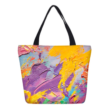 Create your own colorful canvas shopping tote bag with zipper closure