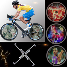 NEWBRELLAs Bicycle Spoke Bike Wheel LED Light - 416pcs LEDs 124124 High Resolution Display - Built-in Gyroscope, Easy to Install