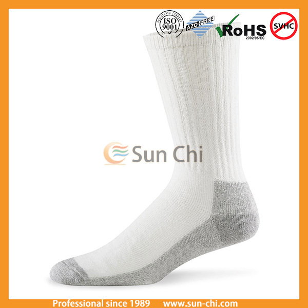 china manufacturer new 2015 ankle crew terry cotton anti-slip baby socks with grip rubber sole non skid booties