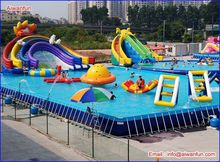 water park summer inflatable water park/adults water park games/ lake floating water game