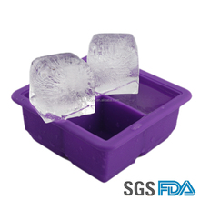 Square Shape Multifunctional Durable Silicone Freeze Mold Silicone Ice Cube Tray