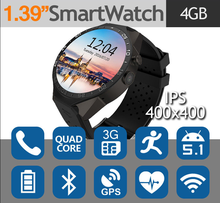 Android 5.1 Smart Watch KW88 512MB+4GB BT 4.0 Smartwatch Support 3G WIFI Google KW88 Smartwatch