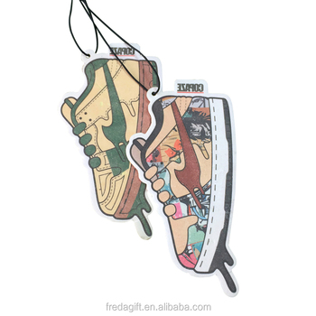 Premium advertising gift car air freshener about the shoe shape