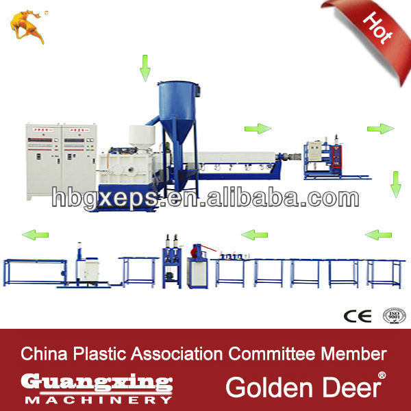Machine For Compressed Polystyrene Foam
