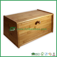 FB1-2005 Square Bamboo Bread Box Food Storage Container
