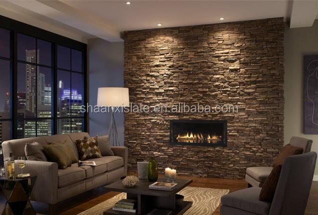 Grossiste pierre de parement noire acheter les meilleurs - Piedra decorativa interior ...