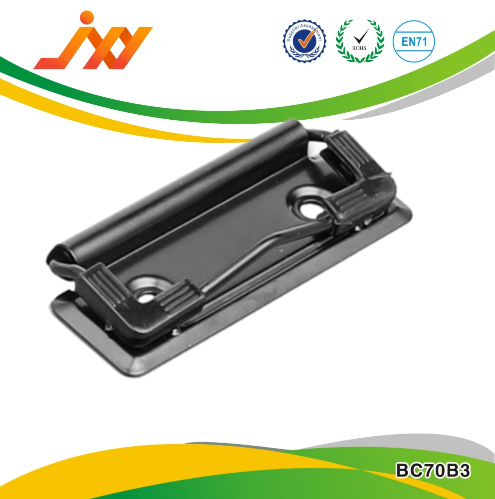 metal office file clip & metal board clip for paper & office stationery clips for files with metal hanger and rubber corners