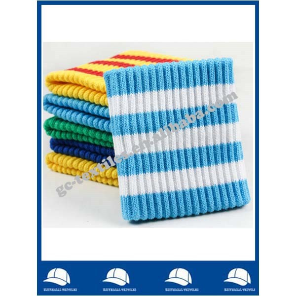 wholesale cheap sports goods jacquard knitting fabric sweatband wristband