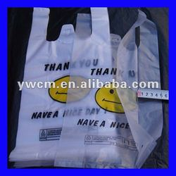 Plastic packaging bags made from recycled plastic bottles