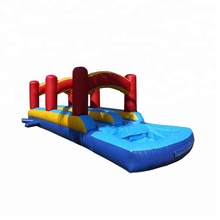 0.55mm PVC amusement park Attractive Inflatable Water Slip N Slide