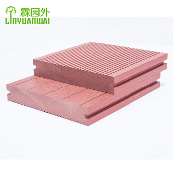 lyw inexpensive but arractive and durable outdoor composite wpc decking flooring