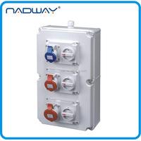CEE/IEC industrual electrical waterproof 3 phase distribution board